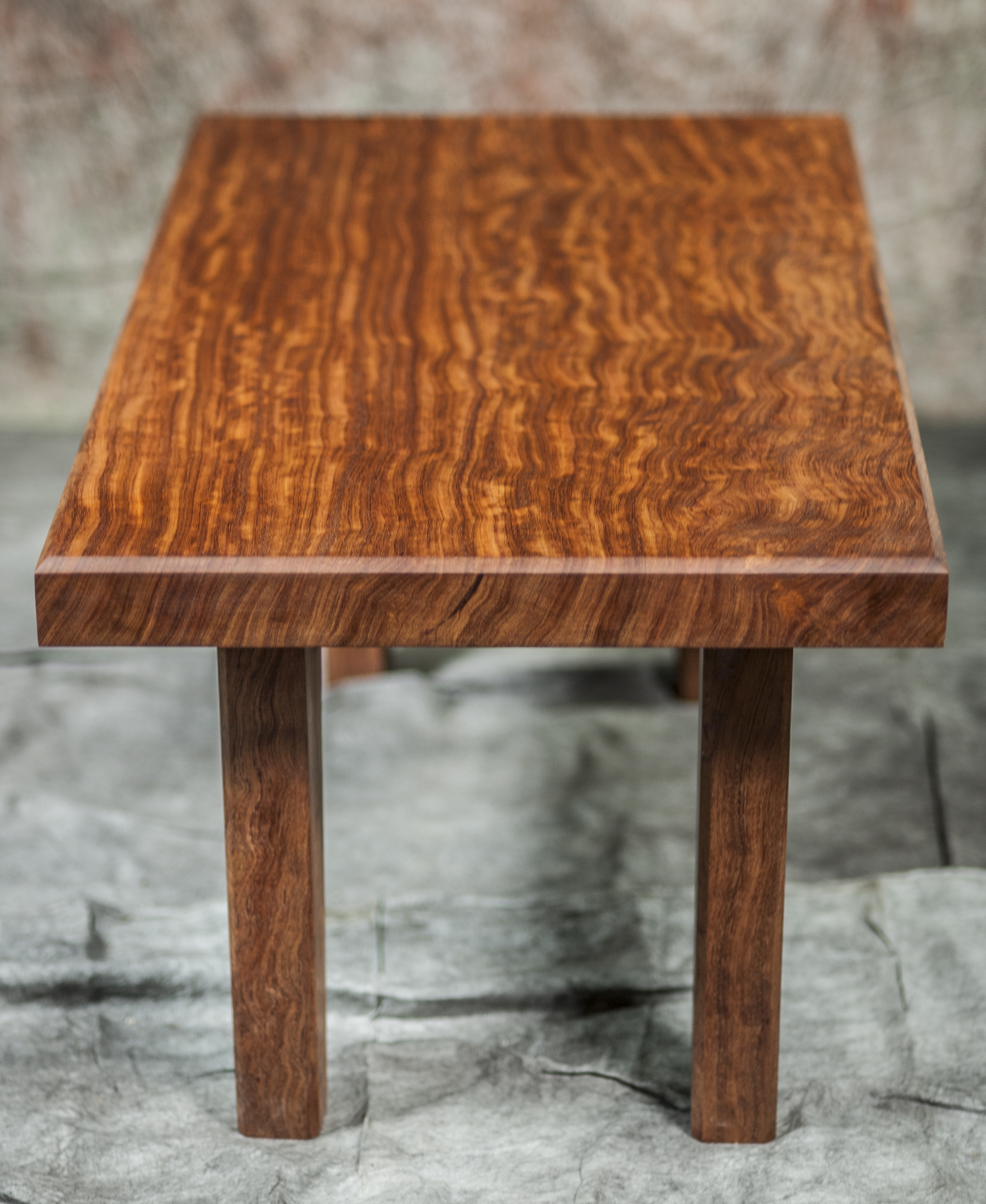 Bubinga Vine Table With Wooden Legs - Artumwood