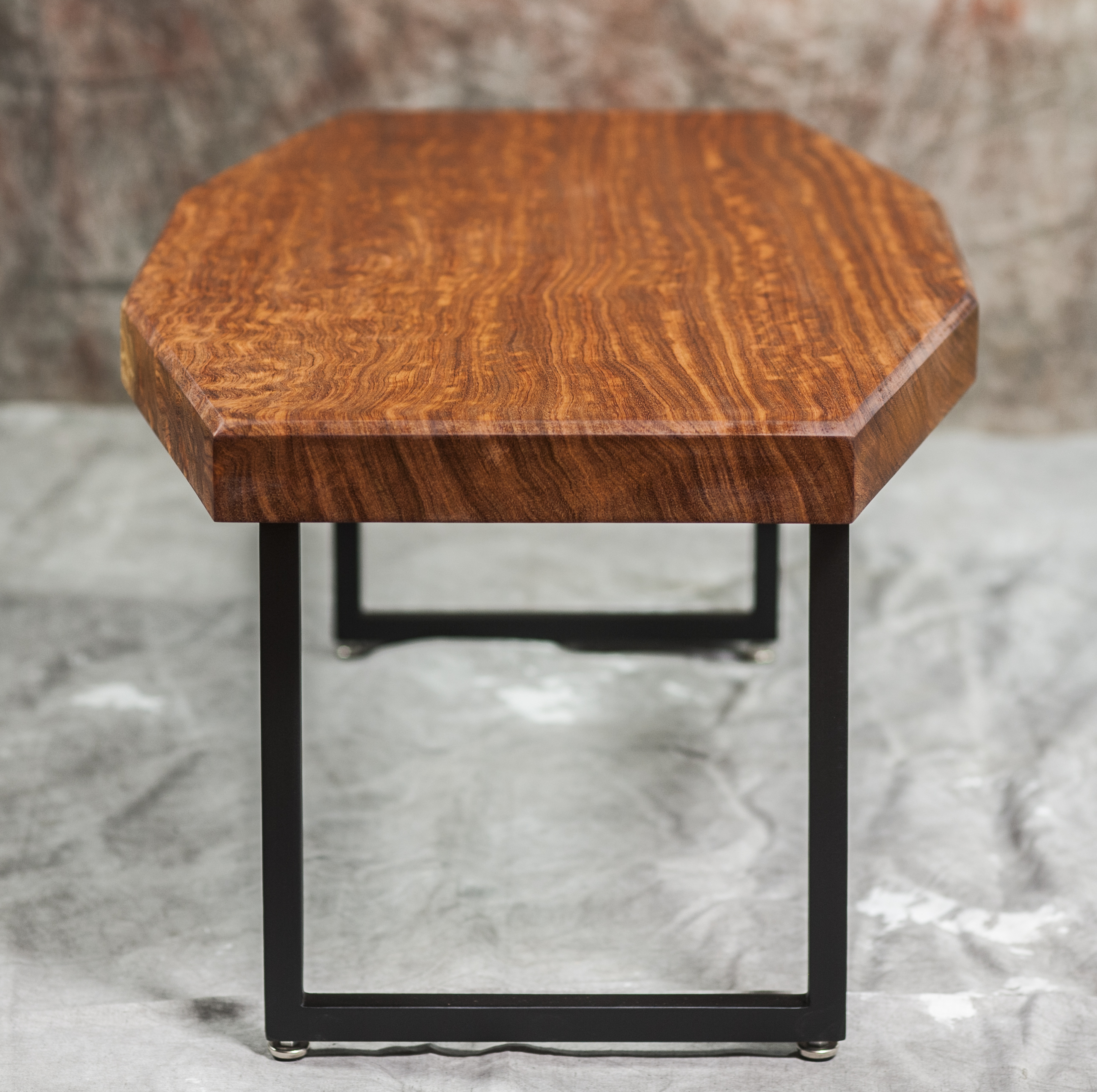 Bubinga Fire Table With Steel Legs - Artumwood