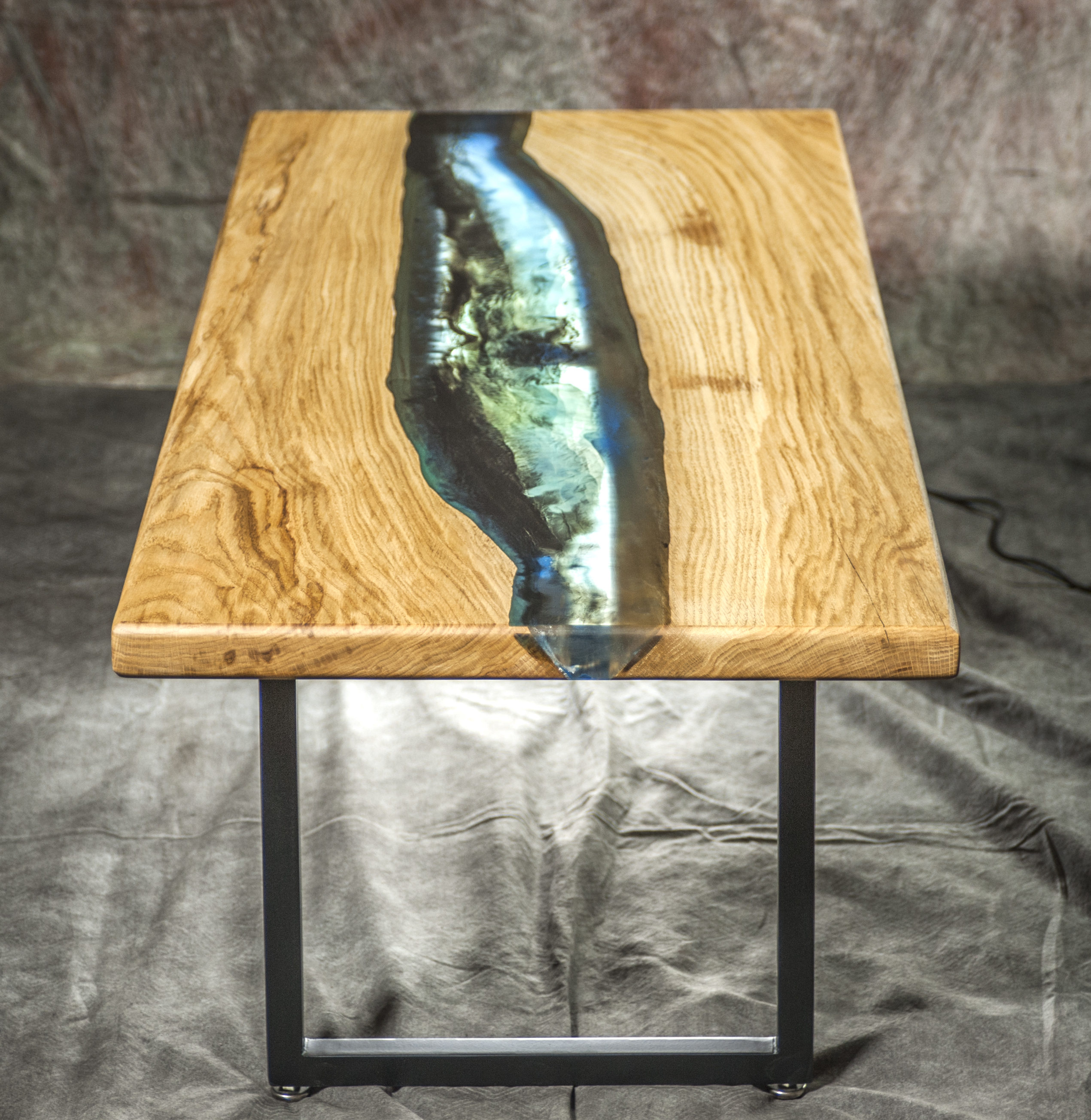 Custom Handmade Oak Galaxy Table With Epoxy - Artumwood