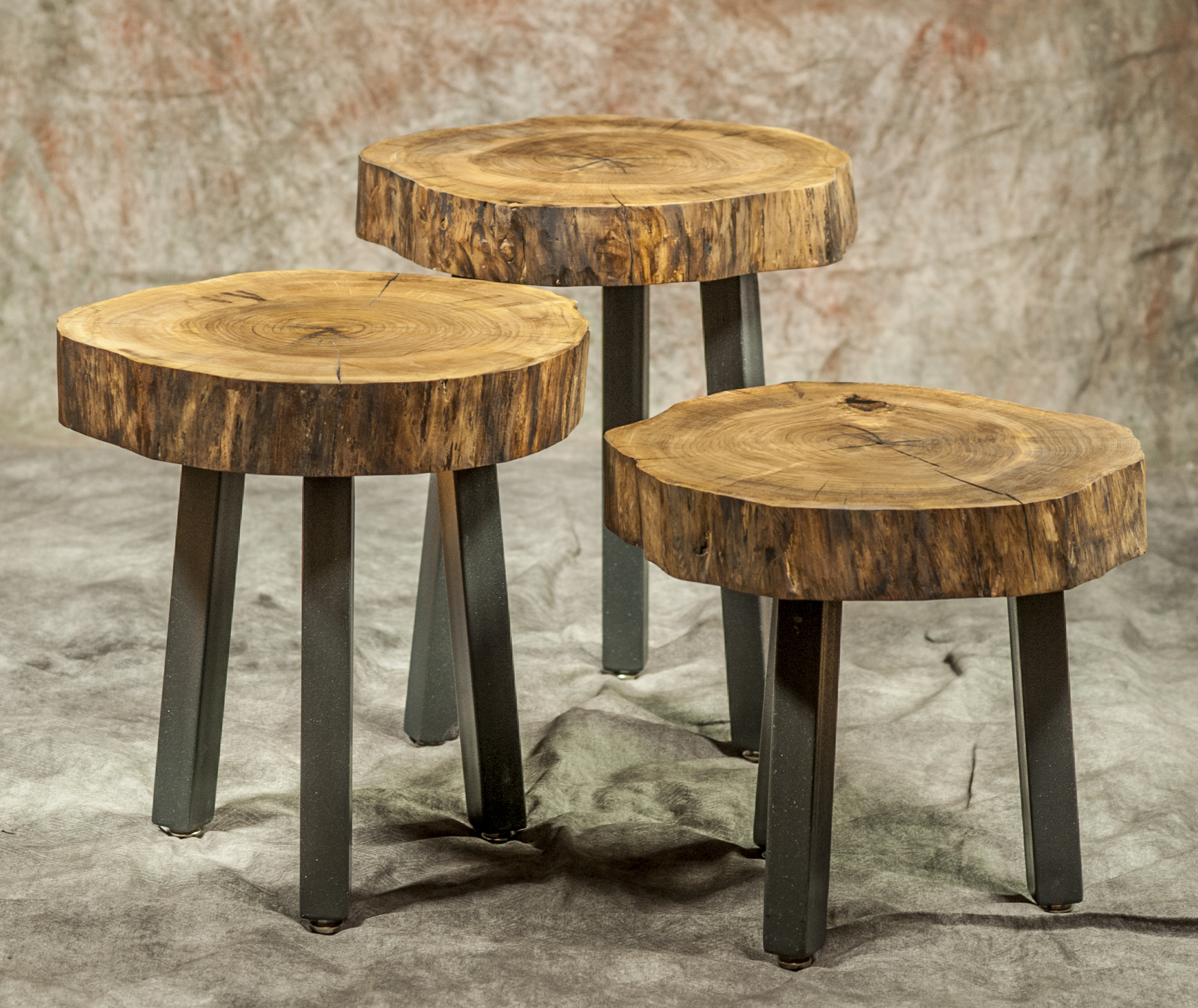 Custom Handmade Set Of Tea Tables - Artumwood